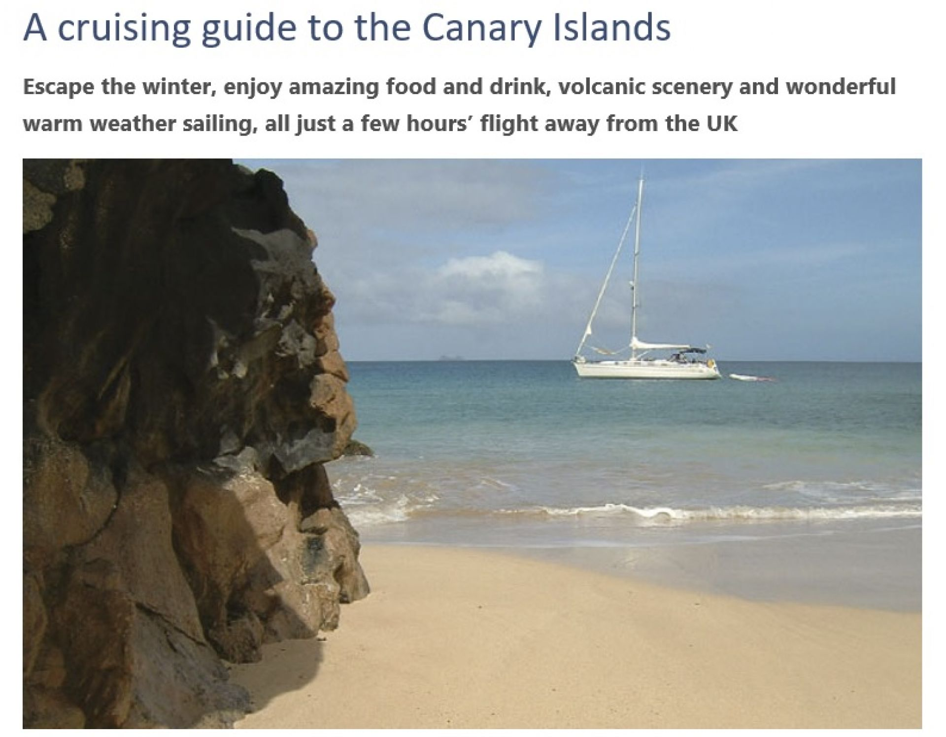 Cruising guide to the canary islands: oliver solanas heinrichs.