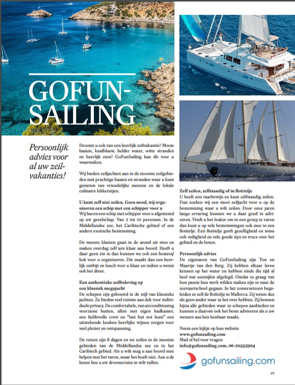 Gofunsailing in de media