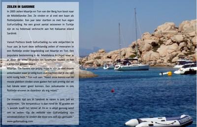 Zeilen in Sardinië. artikel in Zilt