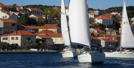 flotilla sailing from Pula