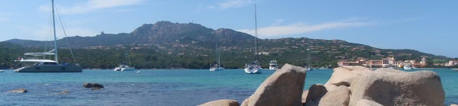 At anchor in a bay