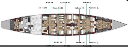 layout classic sailingyacht 54 mtr
