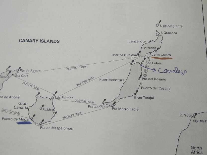 Zeilroute vanuit Lanzarote