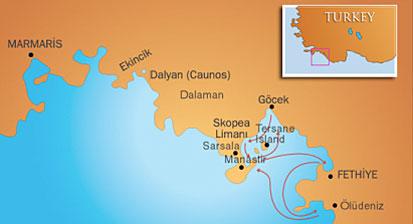 turkije vaarroute oost