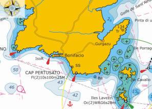 Flottielje zeilen naar Bonifacio