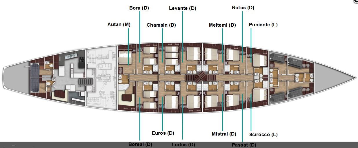indeling schip 1