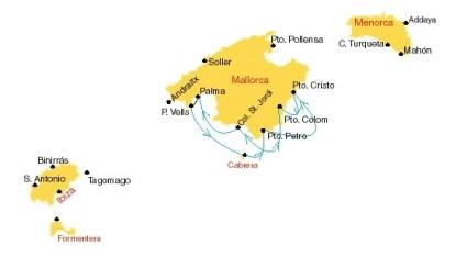 Route zuid oost van Mallorca