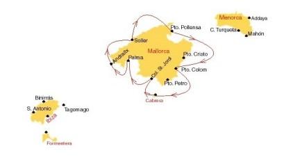 Zeilroute Mallorca van West naar Oost