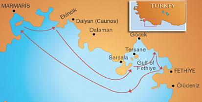 turkije vaarroute west