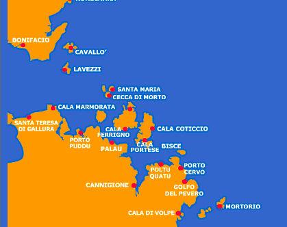 Zeilen in Sardinië vanuit Portisco, Garibaldi route
